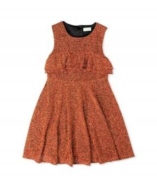 Vestido naranja metalizado