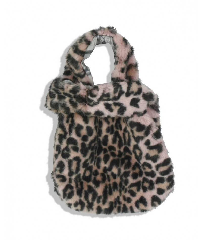 Conjunto de pelo bufanda más bolso.