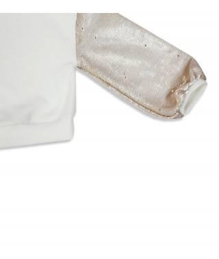 Sudadera blanca con lentejuelas