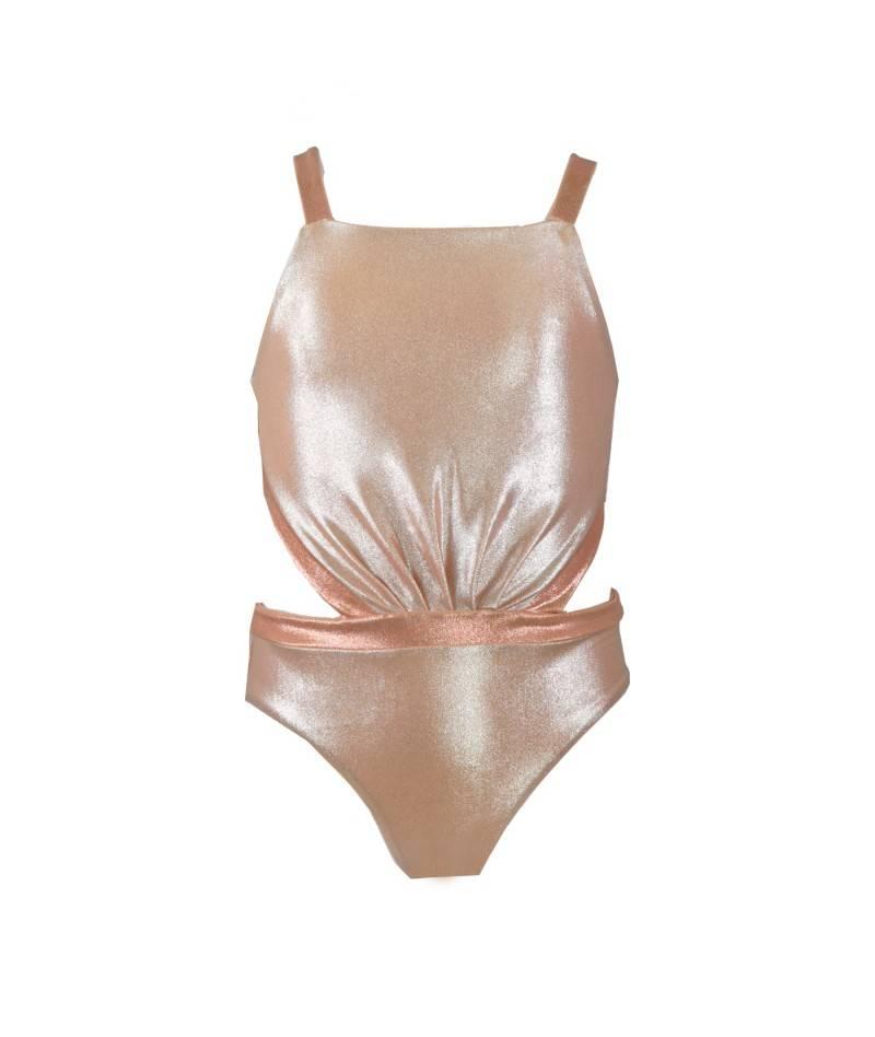 Trikini rosa para niña. Bañador para niña. Moda infantil. Ropa Online.