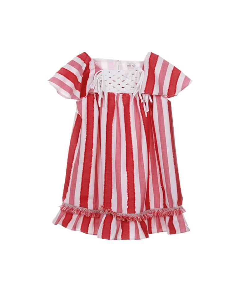 Vestido para niña macramé. Vestidos de verano. Moda infantil