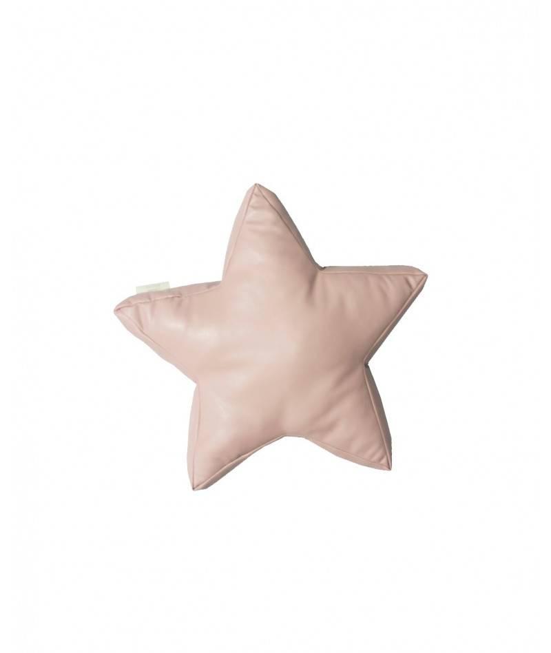 Cojín de estrella rosa