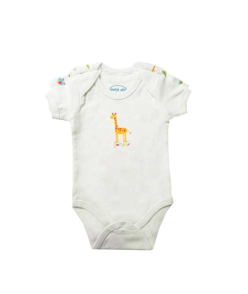 Body manga corta para bebe