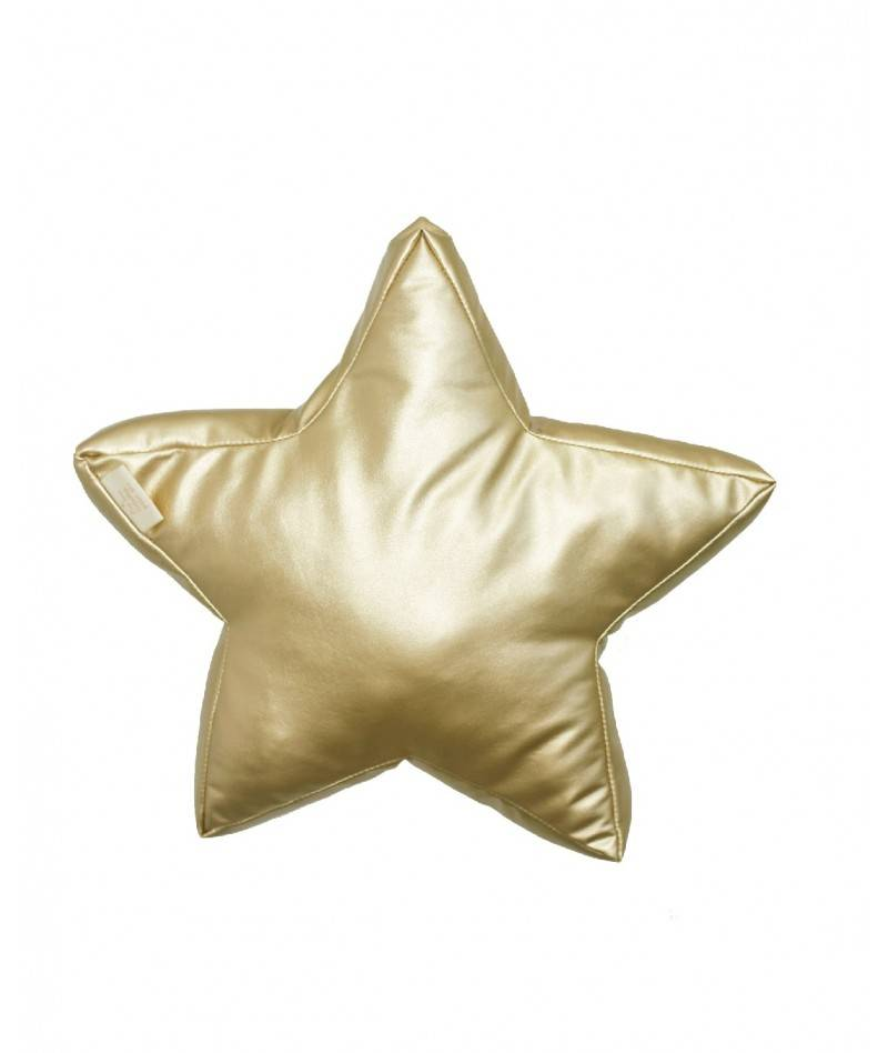 Cojín estrella dorado