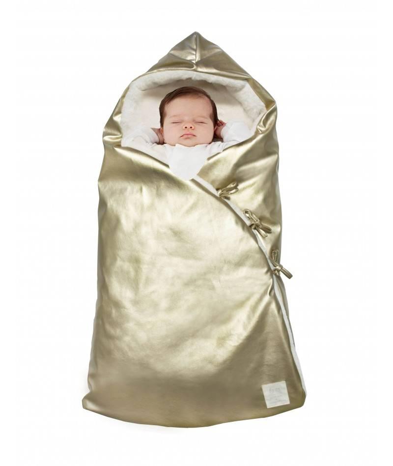 Saco de dormir para bebé dorado
