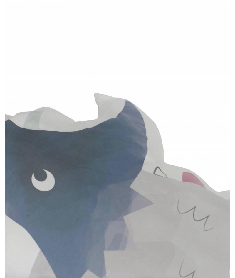 cojin protector de cuna triceratops