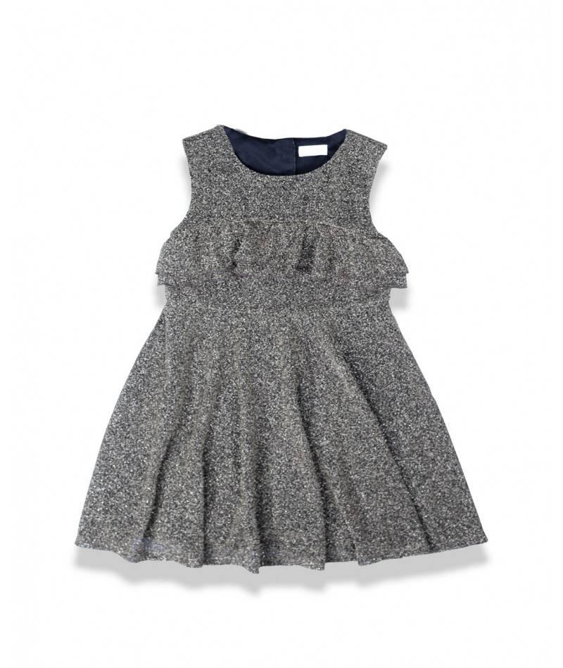 Vestido plateado para niña