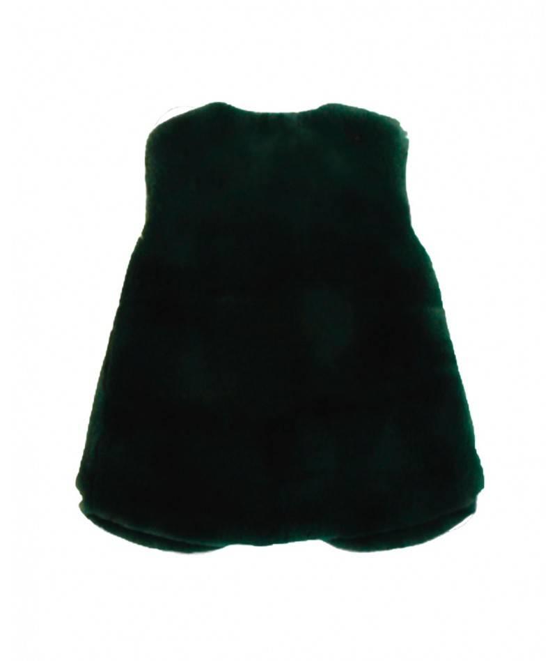 Chaleco verde pelo
