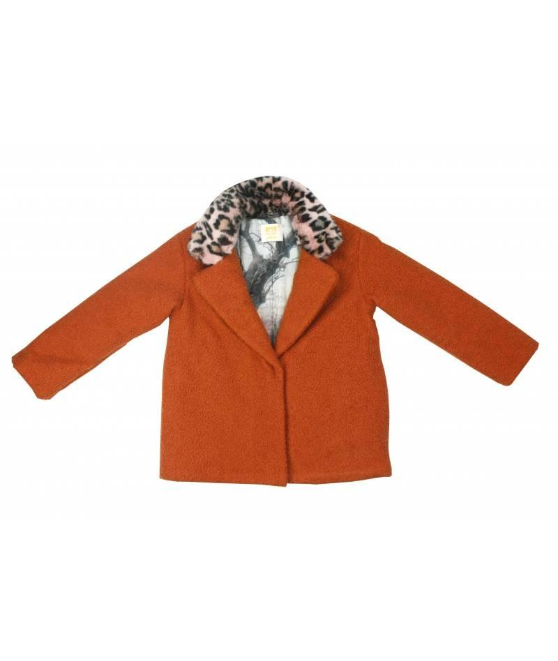 Abrigo naranja de paño